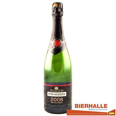CHAMPAGNE PIPER VINTAGE 75CL MILLISIME 2008